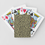 Gold Black Leopard Print Bicycle Poker Cards