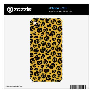 Gold Black Leopard Print iPhone 4S Decal