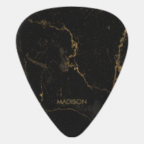 Gold Black Marble Guitar Pick