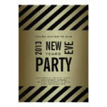 Gold Black Modern 2013 New Years Party Invitation
