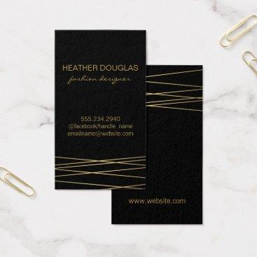 Professional Business Gold Black Modern Business Card