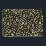 """Gold Black Ombre Leopard Print Placemat<br><div class=""""desc"""">Gold Black Ombre Leopard Print</div>"""