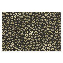Gold Black Ombre Leopard Print Tissue Paper