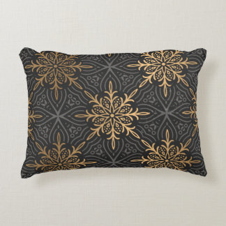 gold & black pillow