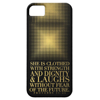 Gold Black Proverbs 31:25 iPhone 5 Covers
