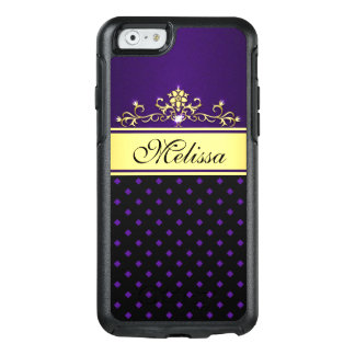 Gold Black Purple Diamonds OtterBox iPhone 6 Case
