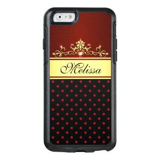 Gold Black Red Diamonds OtterBox iPhone 6/6 Case