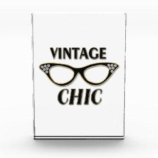 Gold & Black Retro Glasses Vintage Chic Bling Award