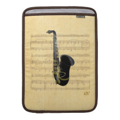 Gold Black Saxophone Music Macbook Air 13
