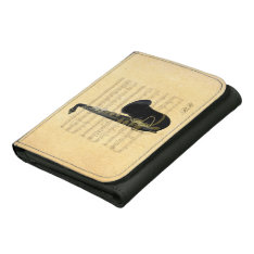 Gold Black Saxophone Music Personal Leather Wallet at Zazzle