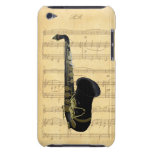 Gold Black Saxophone Sheet Music iPod Touch 4G iPod Case-Mate Case