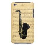 Gold Black Saxophone Sheet Music iPod Touch 4G iPod Case-Mate Case