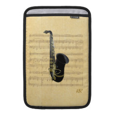 Gold Black Saxophone Sheet Music Macbook Air 11