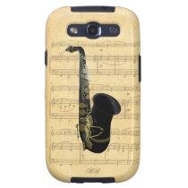 Gold Black Saxophone Sheet Music Samsung Galaxy S3 Samsung Galaxy  SIII Case at Zazzle