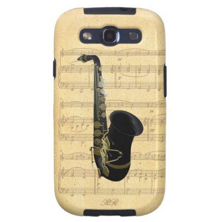 Gold Black Saxophone Sheet Music Samsung Galaxy S3 Samsung Galaxy Siii