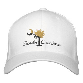Gold/Black SC Dark Palmetto Moon Embroidered Hat