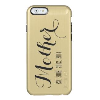 Gold Black Script Mother's Day Keepsake Incipio Feather® Shine iPhone 6 Case