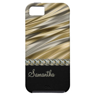 Gold, black, silver chain, monogram iPhone SE/5/5s case
