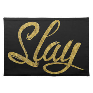 Gold & Black Slay Placemat