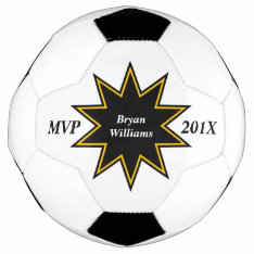 Gold Black Star Mvp Personalized Soccer Ball at Zazzle