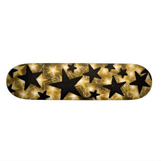 Gold Black Stars Skateboard