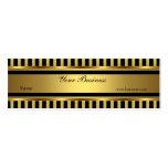 Gold Black Stripe Skinny Business Cards