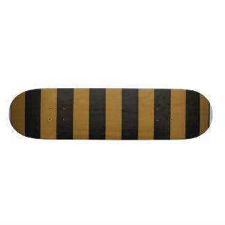 Gold/Black Striped Skateboard