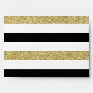 Gold Black Stripes Envelope