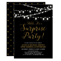 Gold & Black | Surprise 50th Wedding Anniversary Card