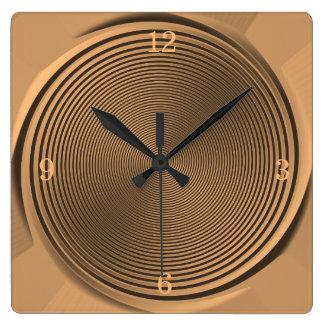 Gold/Black Swirl Design  >Wall Clock