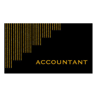 Gold, black vertical stripes accountant business card