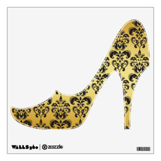 gold damask wall decals amp wall stickers zazzle vinyl damask decal damask wall decal vinyl damask 0038