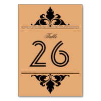 Gold Black Vintage Modern Art Deco Table Number