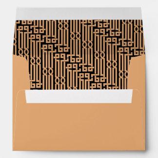 Gold Black Vintage Modern Art Deco Wedding Envelope