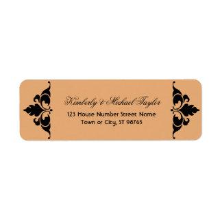Gold Black Vintage Modern Art Deco Wedding Label