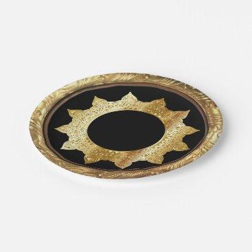 Professional Business Gold & Black Vintage Paper Plate