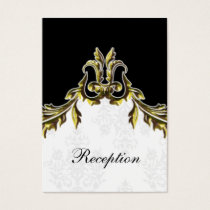 gold black wedding Reception Cards