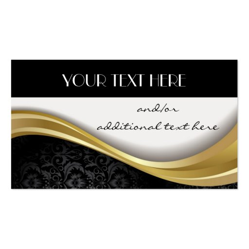 Gold, Black & White Business Card