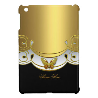 Gold Black White Butterfly Case For The iPad Mini