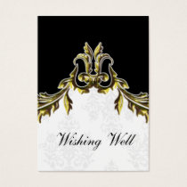 gold black wishing well cards