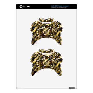 Gold Black Zebra Abstract Xbox 360 Controller Decal