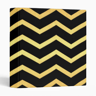 Gold & Black Zig Zag Pattern Binders