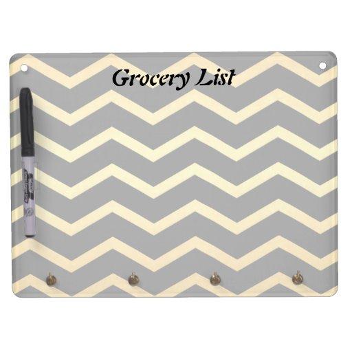 Gold & Black Zig Zag Pattern Dry Erase Boards