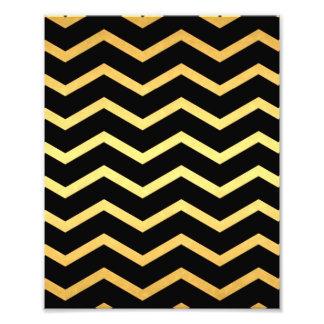 Gold & Black Zig Zag Pattern Photo Art