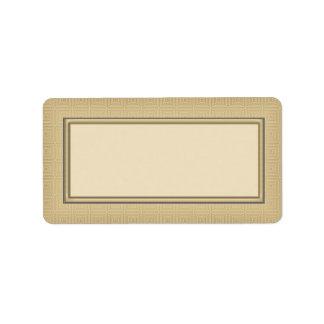 Gold Blank Address Labels
