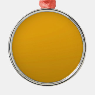 Gold Blank TEMPLATE : Add text, image, fill color Christmas Ornament