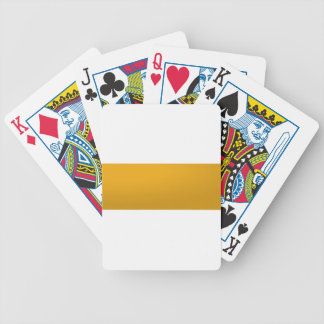 Gold Blank TEMPLATE : Add text, image, fill color Bicycle Playing Cards