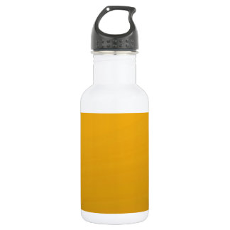 Gold Blank TEMPLATE : Add text, image, fill color Water Bottle