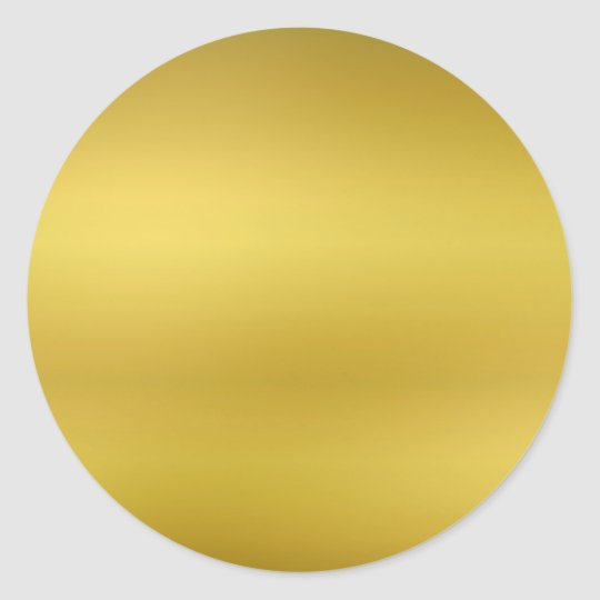 gold blank template faux foil classic round sticker zazzle com