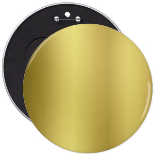 Gold Blank Template Pinback Button